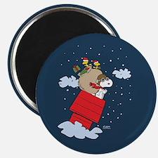 Flying Ace Santa Magnet