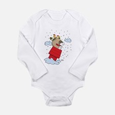 Flying Ace Santa Long Sleeve Infant Bodysuit