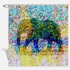 Design 37 Mosaic Elephant Shower Curtain