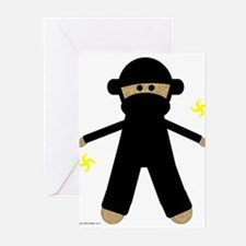 2-ninjamonkey Greeting Cards