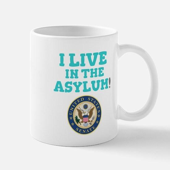 I LIVE IN THE ASYLUM - US SENATE! Mugs