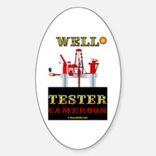 Well Tester Oval Decal