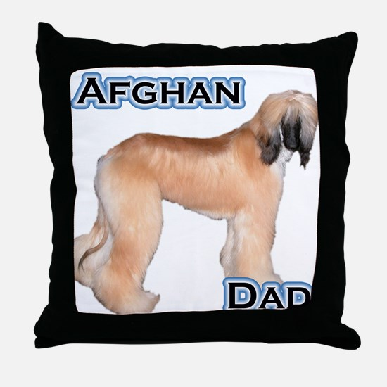 Afghan Dad4 Throw Pillow