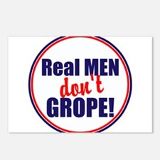 Real men don't grope Postcards (Package of 8)