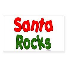 Santa Rocks Rectangle Decal