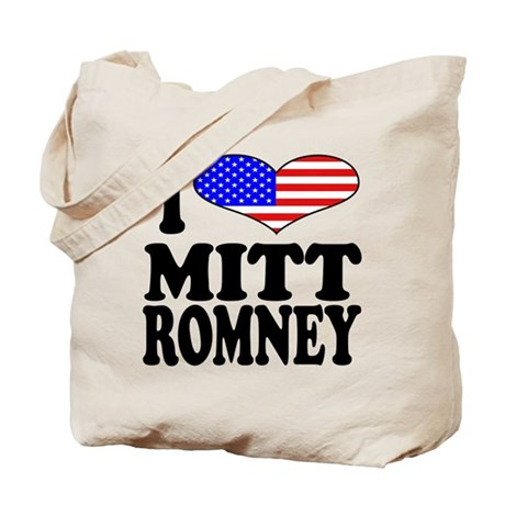I Love Mitt Romney Tote Bag