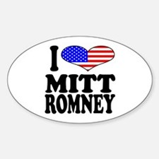 I Love Mitt Romney Oval Decal