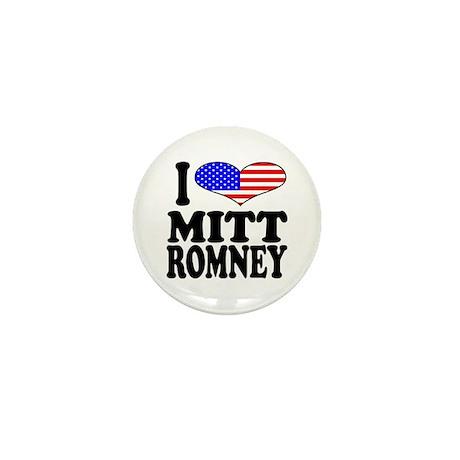 I Love Mitt Romney Mini Button (100 pack)