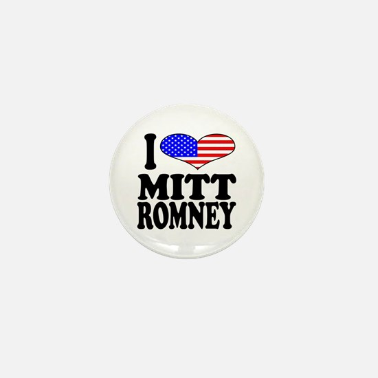 I Love Mitt Romney Mini Button