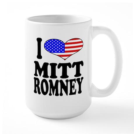 I Love Mitt Romney Large Mug
