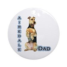 Airedale Dad4 Ornament (Round)