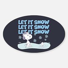 Let It Snow Sticker (Oval)