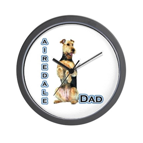 Airedale Dad4 Wall Clock