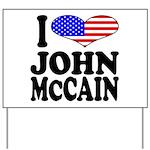 I Love John McCain Yard Sign