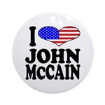 I Love John McCain Ornament (Round)