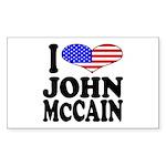 I Love John McCain Rectangle Sticker