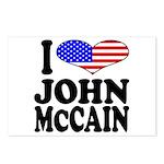 I Love John McCain Postcards (Package of 8)