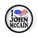 I Love John McCain Wall Clock
