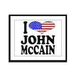 I Love John McCain Framed Panel Print