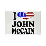 I Love John McCain Rectangle Magnet