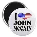 I Love John McCain Magnet