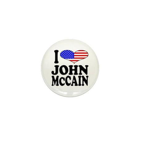 I Love John McCain Mini Button (100 pack)