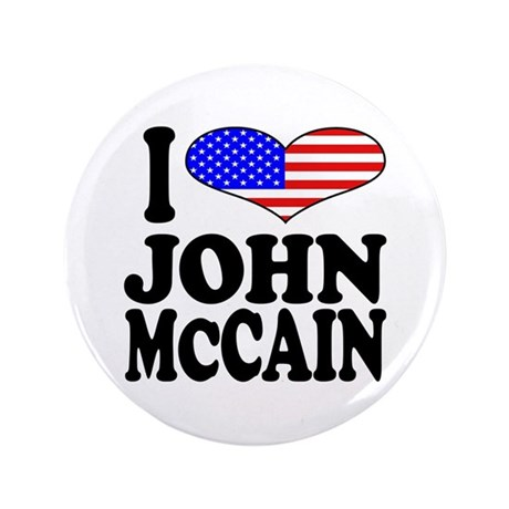"I Love John McCain 3.5"" Button"