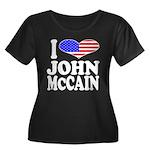 I Love John McCain Women's Plus Size Scoop Neck Da