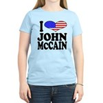 I Love John McCain Women's Light T-Shirt