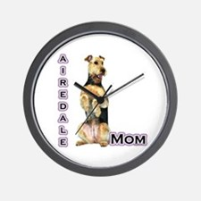Airedale Mom4 Wall Clock