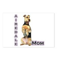 Airedale Mom4 Postcards (Package of 8)