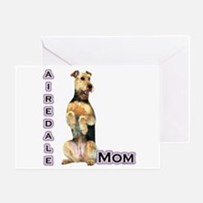 Airedale Mom4 Greeting Card