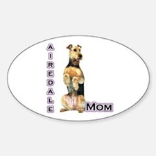 Airedale Mom4 Oval Decal