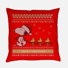 Snoopy Ugly Christmas Everyday Pillow