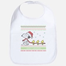 Snoopy Ugly Christmas Bib