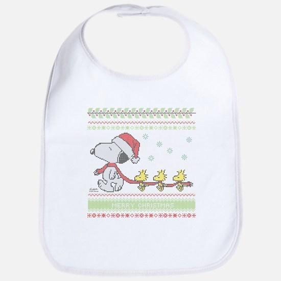 Snoopy Ugly Christmas Bib