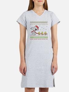 Snoopy Ugly Christmas Women's Nightshirt