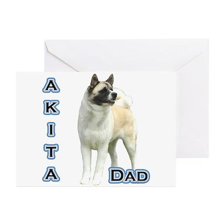 Akita Dad4 Greeting Cards (Pk of 20)