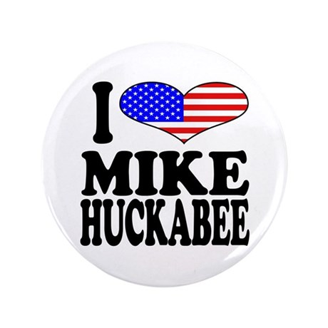 """I Love Mike Huckabee 3.5"""" Button (100 pack)"""