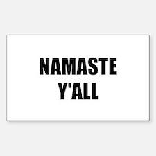 Namaste Yall Decal