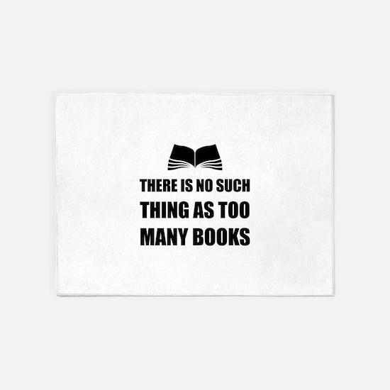 Too Many Books 5'x7'Area Rug