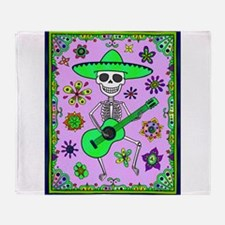 Best Seller Day of the Dead Throw Blanket
