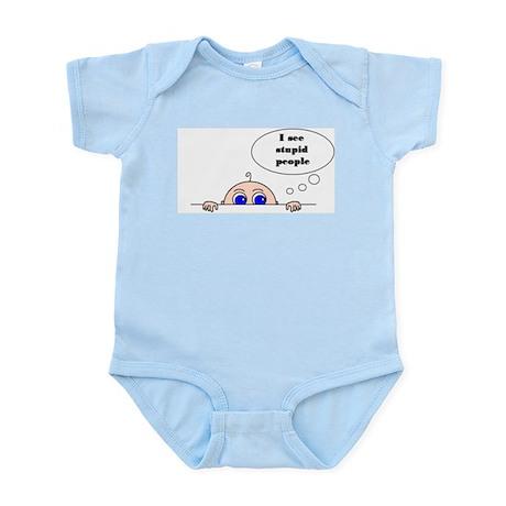 STUPID PEOPLE Infant Bodysuit