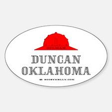 Duncan Oklahoma Oval Decal