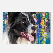 Border Collie Painting Postcards (Package of 8)