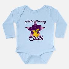 Field Hockey Chick #9 Long Sleeve Infant Bodysuit