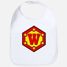 Super W Logo Costume 10 Bib