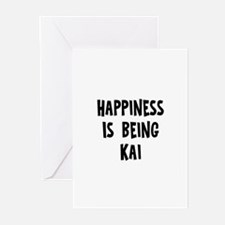 Happiness is being Kai Greeting Cards (Pk of 10)