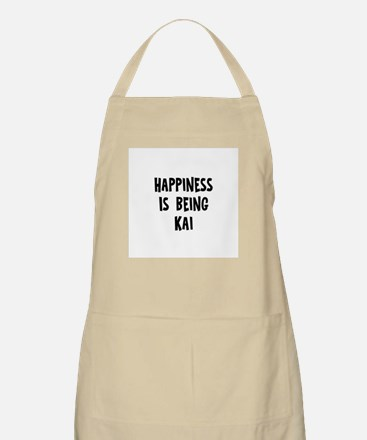 Happiness is being Kai BBQ Apron