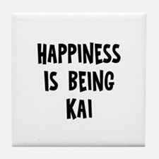 Happiness is being Kai Tile Coaster